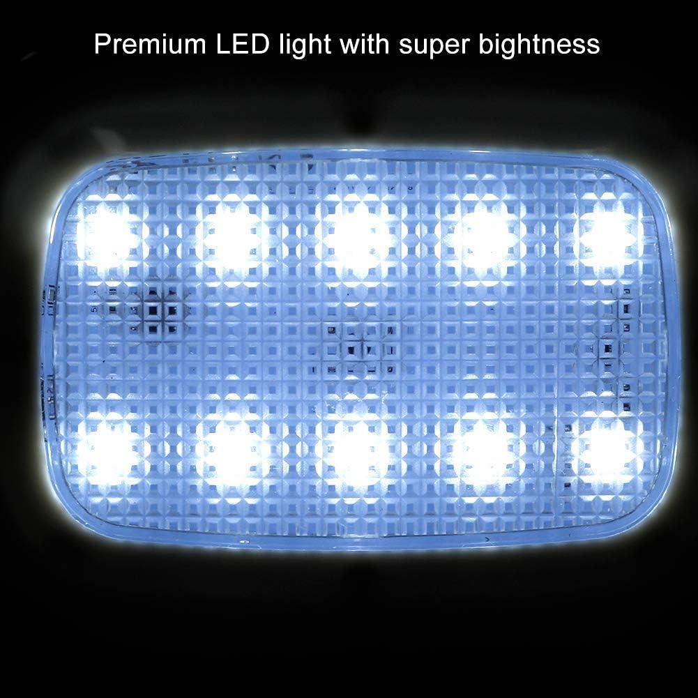 Lumi/ère de toit de d/ôme de voiture Akozon lampe de lecture /à LED de plafond int/érieur de voiture avec interrupteur tactile pour les v/éhicules de camping-cars