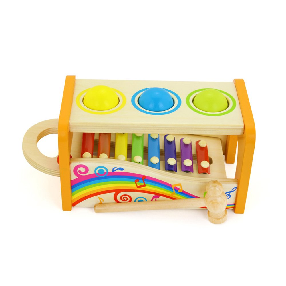 Baidercor 8 Tones Xylophone Pound Bench Musical Toys with Mallet