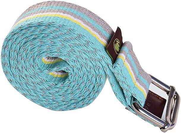 Cinturón elástico con Cordones de 1,88 m para Yoga, Cuerda de Yoga, 3,5 cm de Ancho, cinturón de tensión de algodón: Amazon.es: Hogar