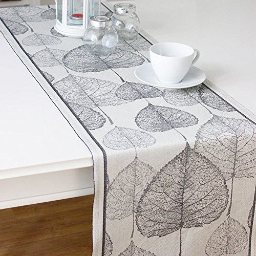 JINGJIE Table Runners nordic simplicity cotton coffee table tv cabinet bed flag wedding banquet decoration-A 35x200cm(14x79inch) by JINGJIE