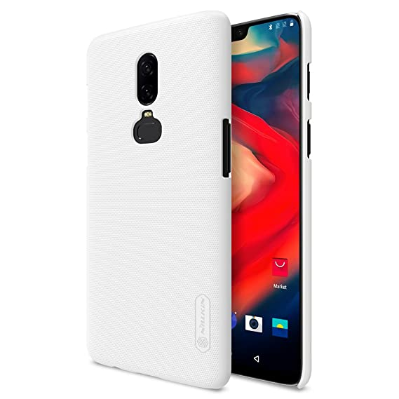 new product 2cc0a c326b OnePlus 6 Case,Mangix Exact-Fit Premium Matte Finish Hard Back Cover Case  with Film Screen Protector for OnePlus 6 2018 Newest Released (White)