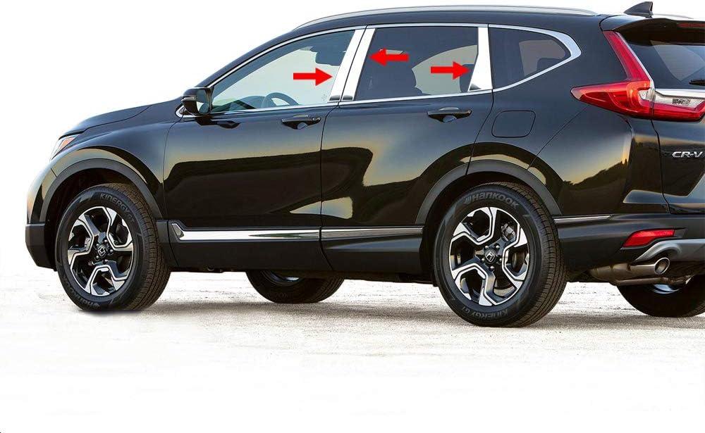 Beautost Fit for Honda 2017 2018 2019 CR-V CRV Chrome Rear Bumper Trunk Lid Moulding Guard Cover Trim Abs