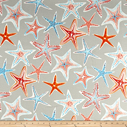Waverly Sun N Shade Stars Collide Outdoor Fabric, Pewter,