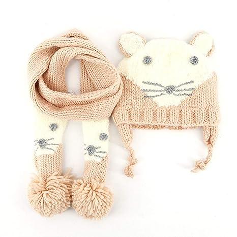 Gorro de bebe y bufanda Bebé niña niño cálida sombrero de ...