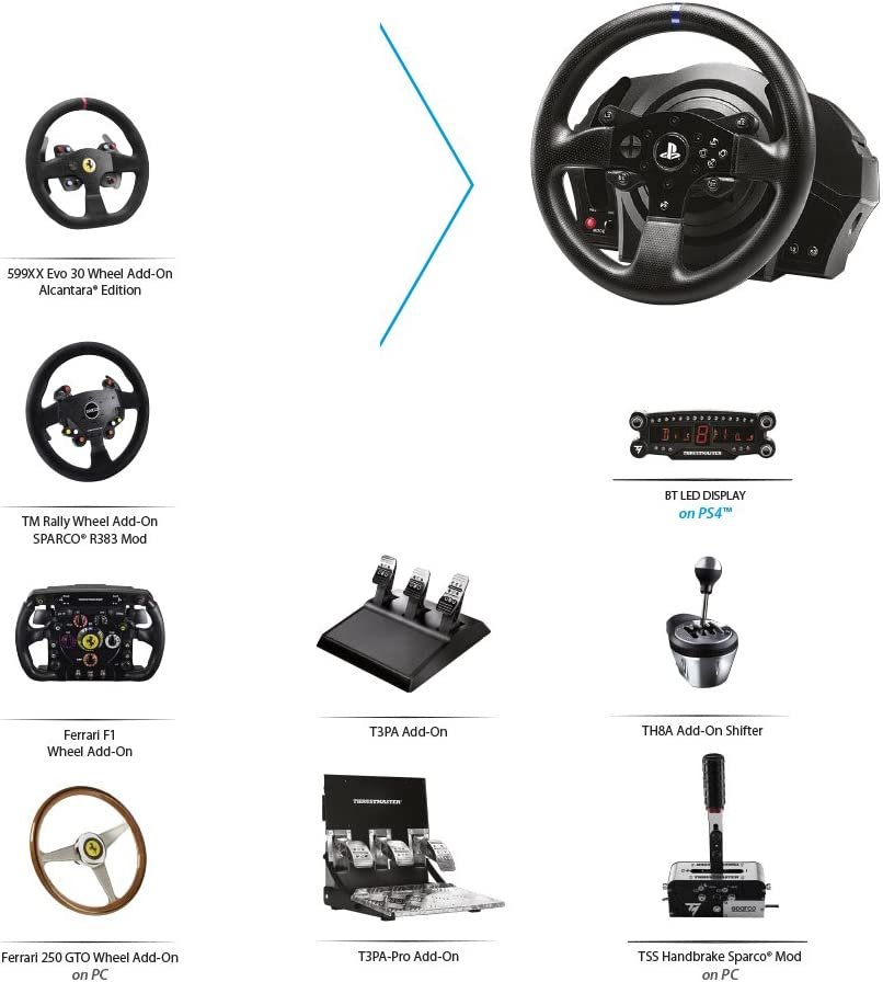 4f1247103f8 Amazon.com: Thrustmaster T300 RS GT Racing Wheel - PlayStation 4: Video  Games