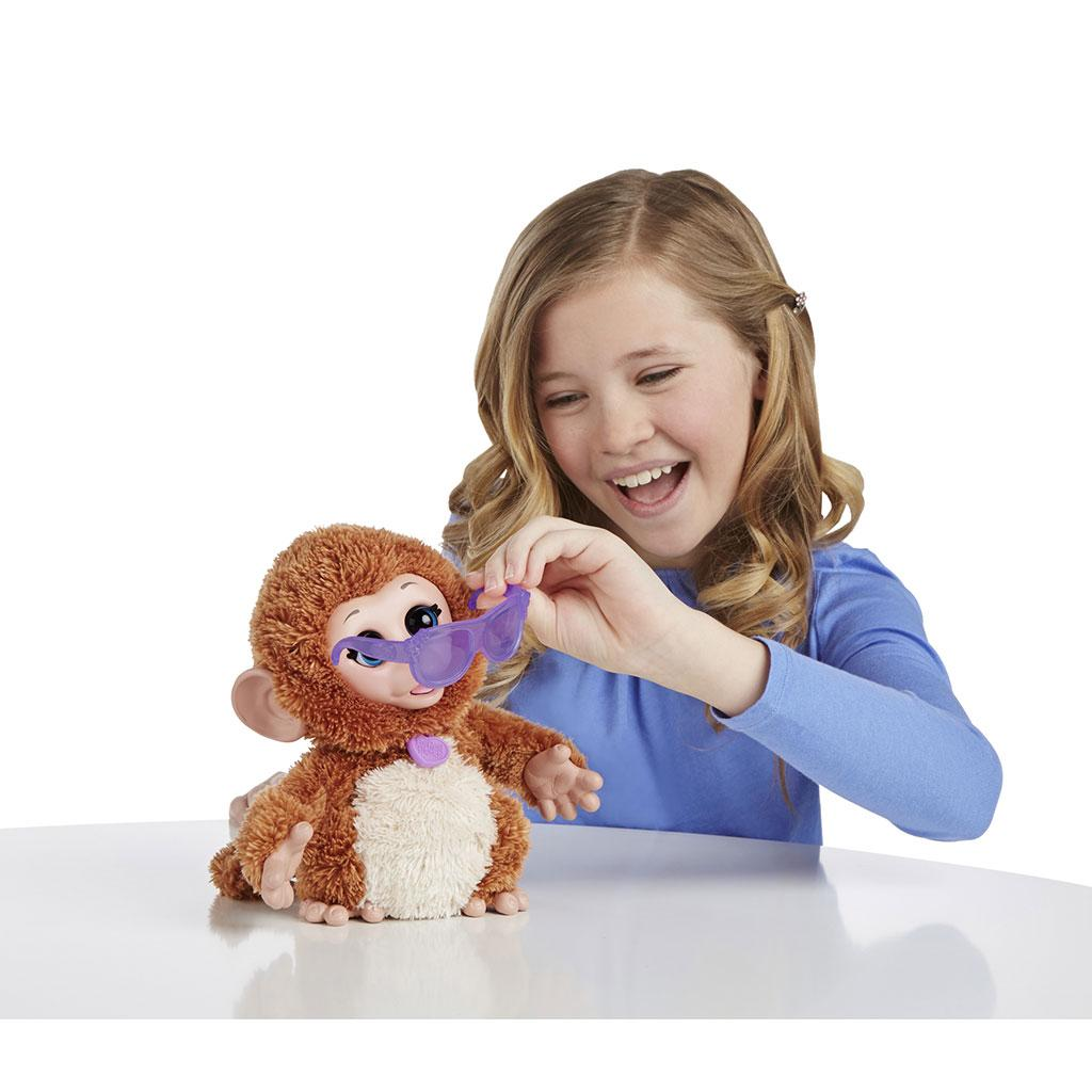 Amazon.com: FurReal Friends Baby Cuddles My Giggly Monkey Pet ...
