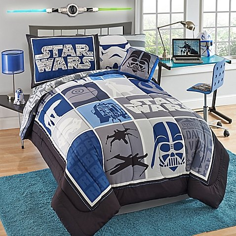 Star Wars Classic Twin Bed-In-A-Bag (Han Solo And Leia Pillow Cases)