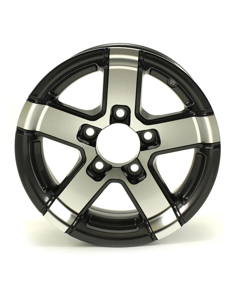 HWT 735545 13X5 5/4.5 Aluminum Series07 Trailer Wheel - Gray Accent by Hispec Wheel (Image #1)