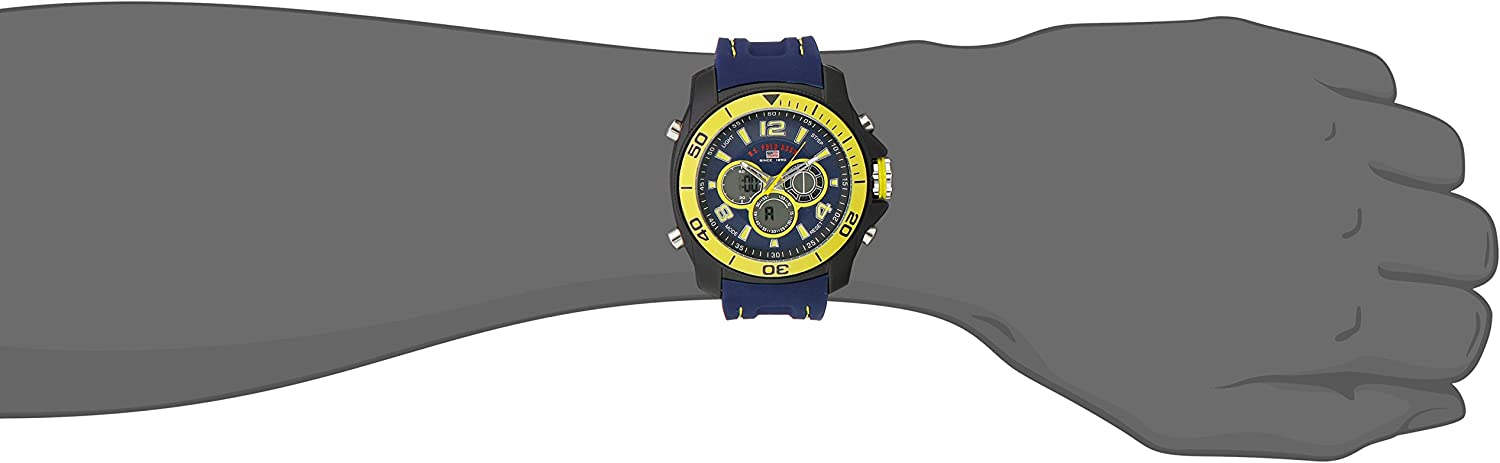 U.S. Polo Assn. Sport Men s US9322 Sport Watch with Navy Silicone Band