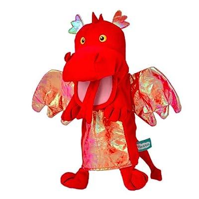 Tellatale Red Dragon - Marioneta de Mano, diseño de dragón, Color Rojo: Juguetes y juegos