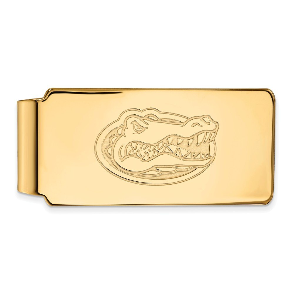 UF Money Clip Sterling Silver w// 14K Yellow Gold-Plated LogoArt Official Licensed Collegiate University of Florida