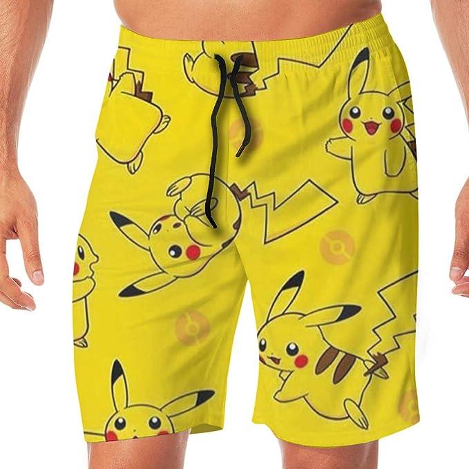 Greatbe Trajes de baño de Verano para Hombres Pokémon Lindo ...
