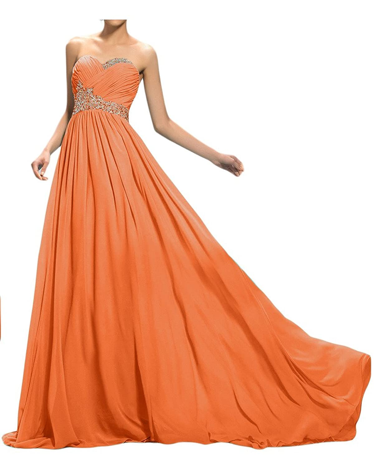 Sunvary Crystals A Line Sweetheart CrissCross Chiffon Evening Gowns