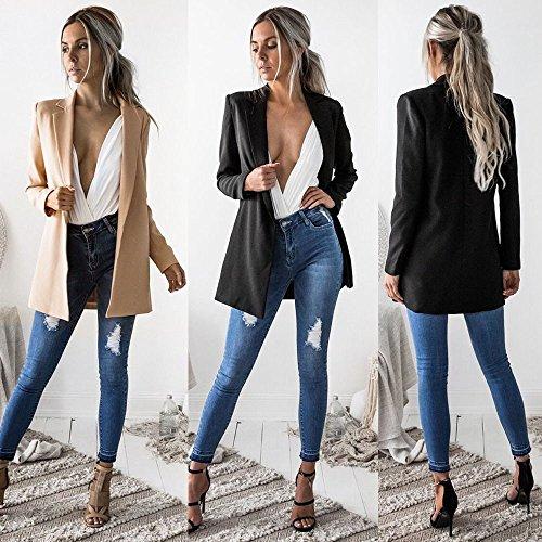Sleeve Women Blazer Cardigan Sweatshirt Jacket Tops Khaki Ladies Casual Long Suit Coat Outwear KIMODO vqwYRz4W