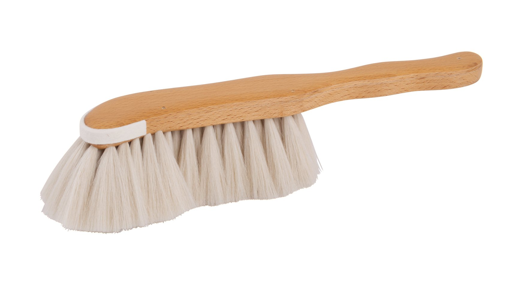Redecker Goat Hair Dust Brush with Waxed Beechwood Handle, Large, 11-3/8-Inches