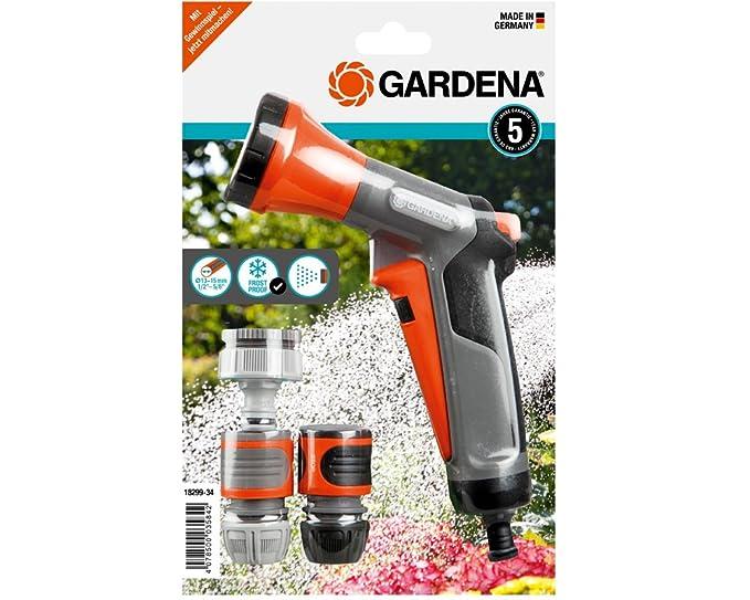 GARDENA Bewässerungsbrausen-Aktion mit Anschlussteilen für 13 mm- und 15 mm-Schläuche, Anschluss-Set mit Bewässerungsbrause,