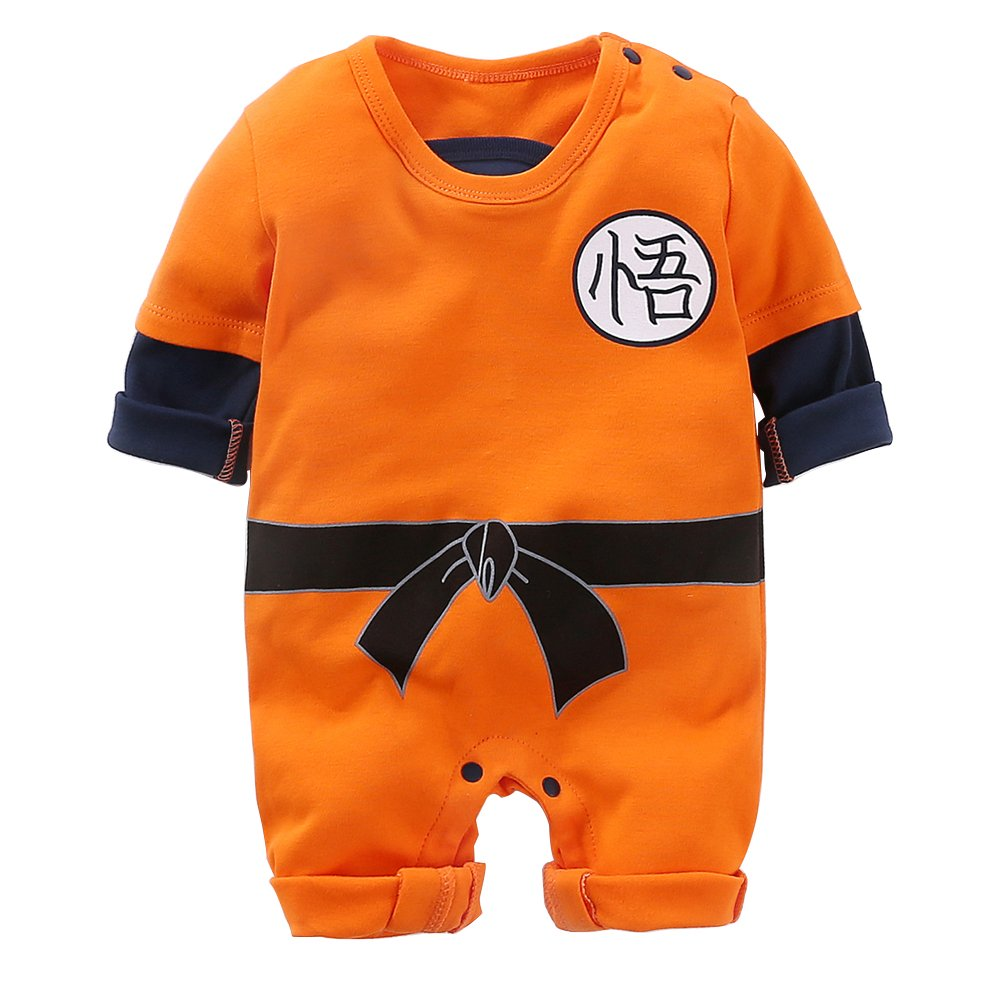Yierying Newborn Wukong Jumpsuits Baby Lovely Long Sleeve Cartoon Romper Baby Clothes
