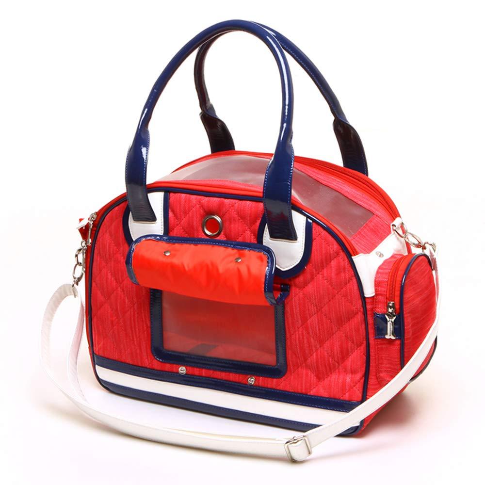 Red L&XY Pet Backpack Airline Approved Pet Carriers Single Shoulder Diagonal Shoulder Hand-Held Breathable Portable Dog Bag Cat Cage