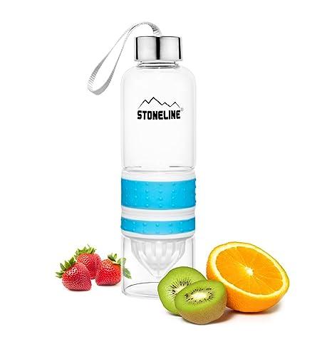 Stoneline® 2 en 1 Botella con exprimidor, Color Azul