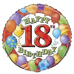 Globo de la hoja 18 cumpleaños, globos de diseño, redondo ...