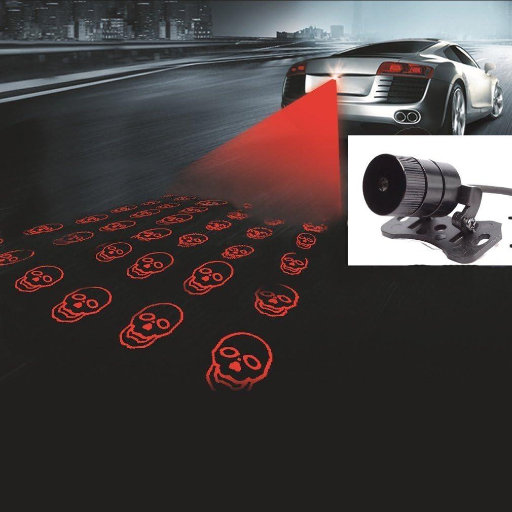 Universal Red Car Laser LED Fog Light Rear Anti Collision Signal Warning BL