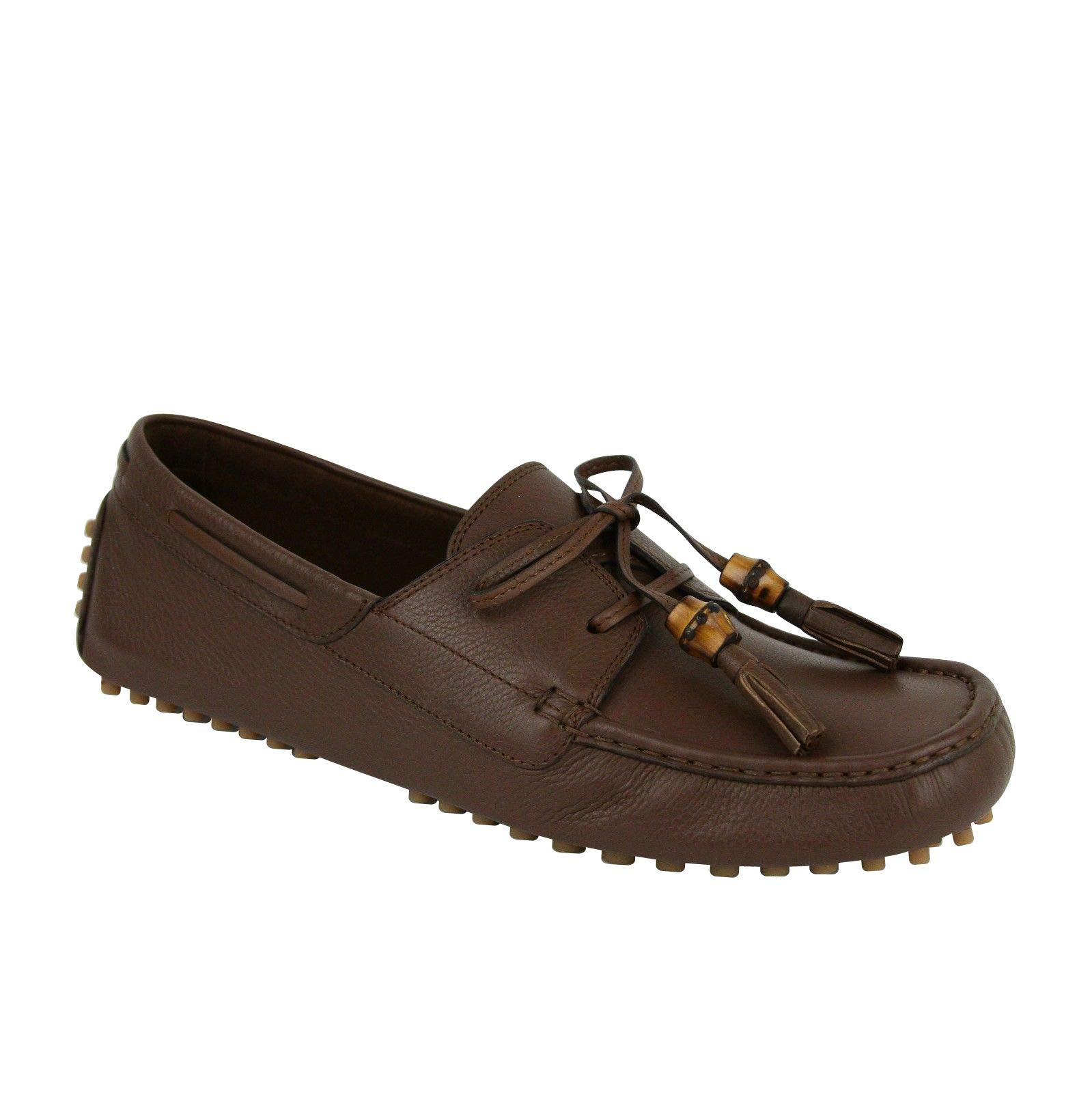 eefd25dee65 Gucci Bamboo Tassel Brown Leather Loafer Driver 367923 2138 (9 G   9.5 US)