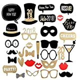 2018 Happy New Year Party Eve Photo Booth Props kits 32pcs Party Decorations
