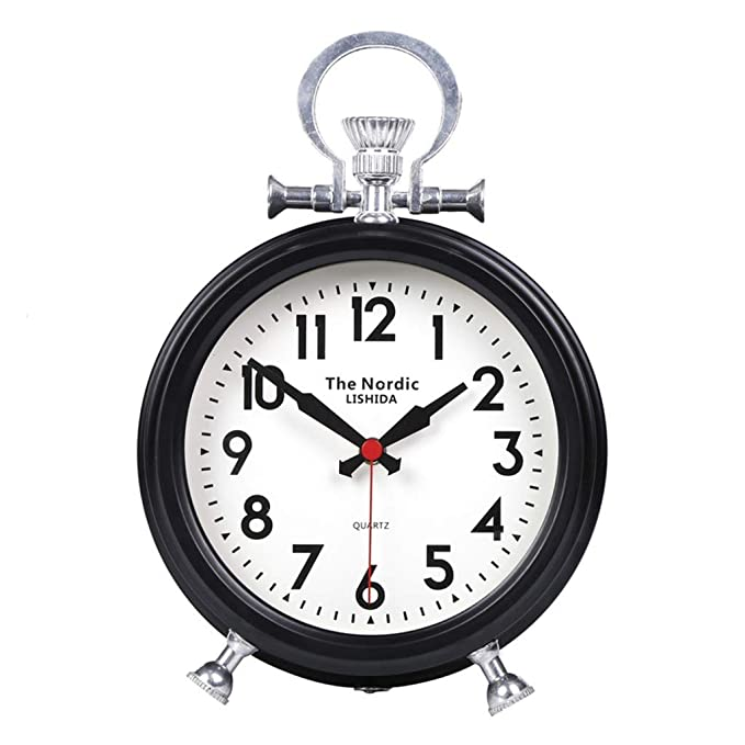 Amazon.com : Fireplace Clocks Familiar Mute Clock, Retro Desk Watch, Decoration ó N, Living Room, Table, Clock Suitable for Living Room Office Bedroom ...