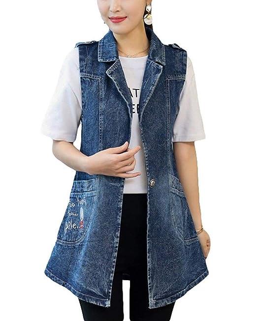 Mujer Vaqueras Jacket Primavera Otoño Chaqueta Chaleco Moda ...