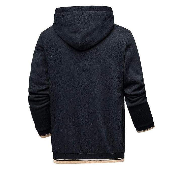 Sudadera Hombres,Hombres Otoño Invierno Impresión Sudadera con Capucha Suéter Camisa Top Pantalones Sets Deporte Traje Chándal, (Tops + Pantalones) 2 Piezas ...