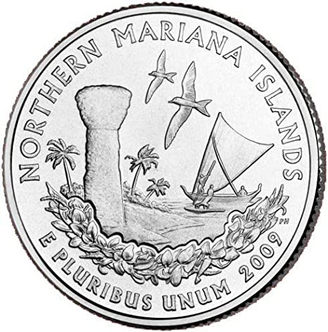 2009 P Northern Mariana Islands Territorial Quarter 1 Coin from Unc Roll