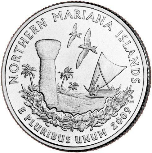 US 2009 D MINT NORTHERN MARIANA ISLANDS QUARTER UNC COIN