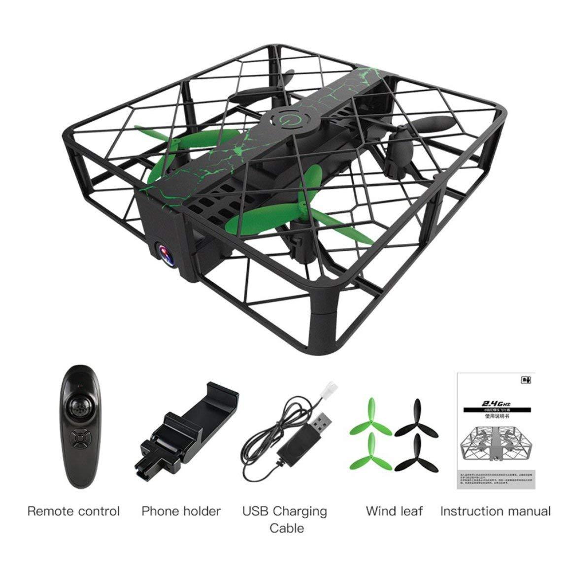 Fantasyworld SG500 Mini-Drohne Shatter Resistant WiFi WiFi WiFi Fern Quadcopter mit 0.3MP Kamera 4CH Altitude Halten Headless Modus RC Hubschrauber 19b006