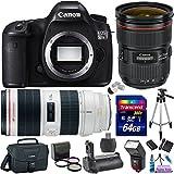 Canon EOS 5DS R 50.6 MP Digital SLR Camera w/ 24-70mm f/2.8L II USM Lens + 70-200mm f/2.8L IS II USM Lens Premium Bundle