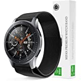 Samsung Gear S3/2018 Galaxy Watch 46mm Mifan Milanese Loop Band Strap Replacement Premium Mesh Stainless Steel Black Anti Sweat Cooling with Magnetic Clasp 22mm