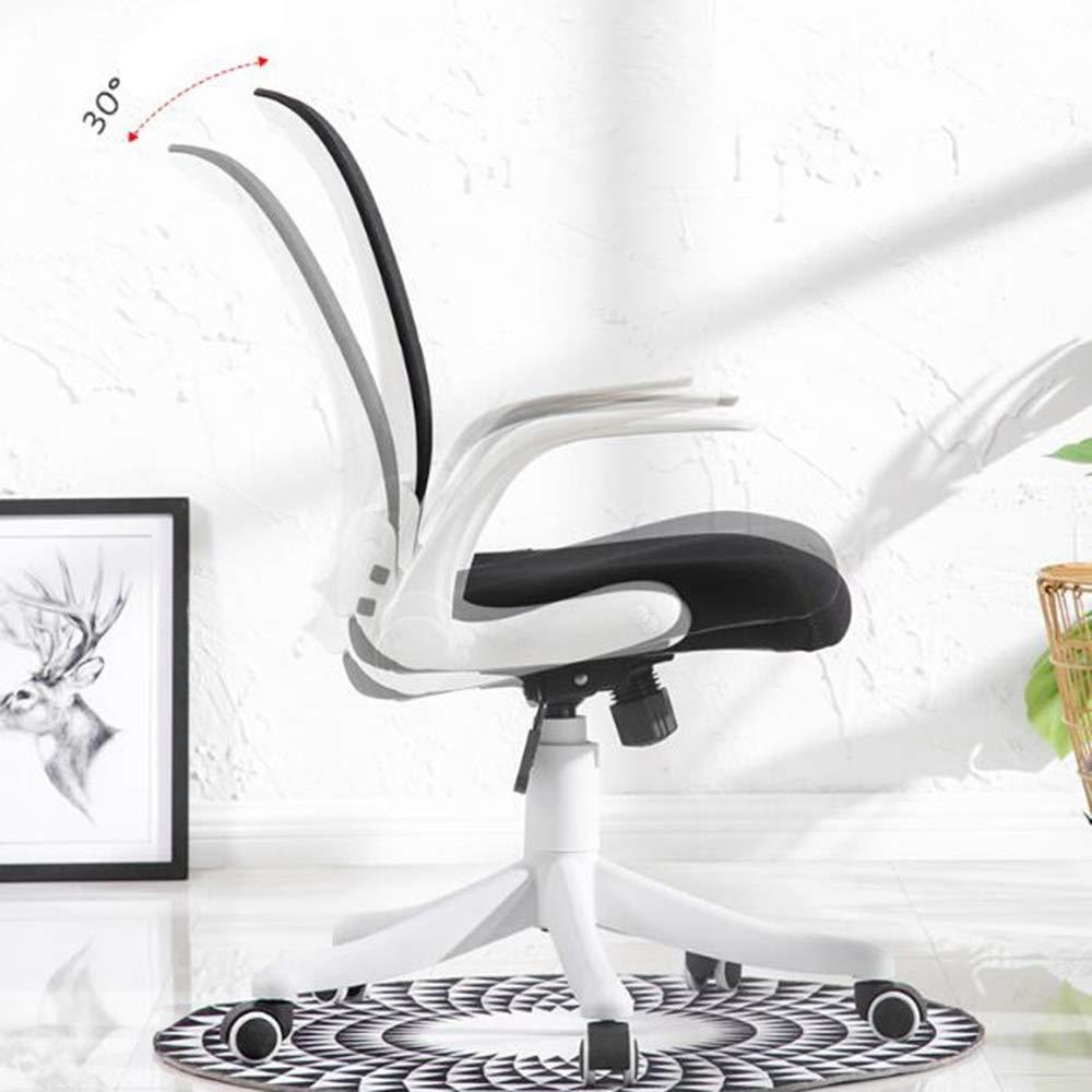 Xiuyun datorstol räcke student sovsal stol slitstark nät hög densitet svamp fyllning arbete hem kontor skrivbord mänsklig kropp kurva andningsbart läder Svart grå grå vit