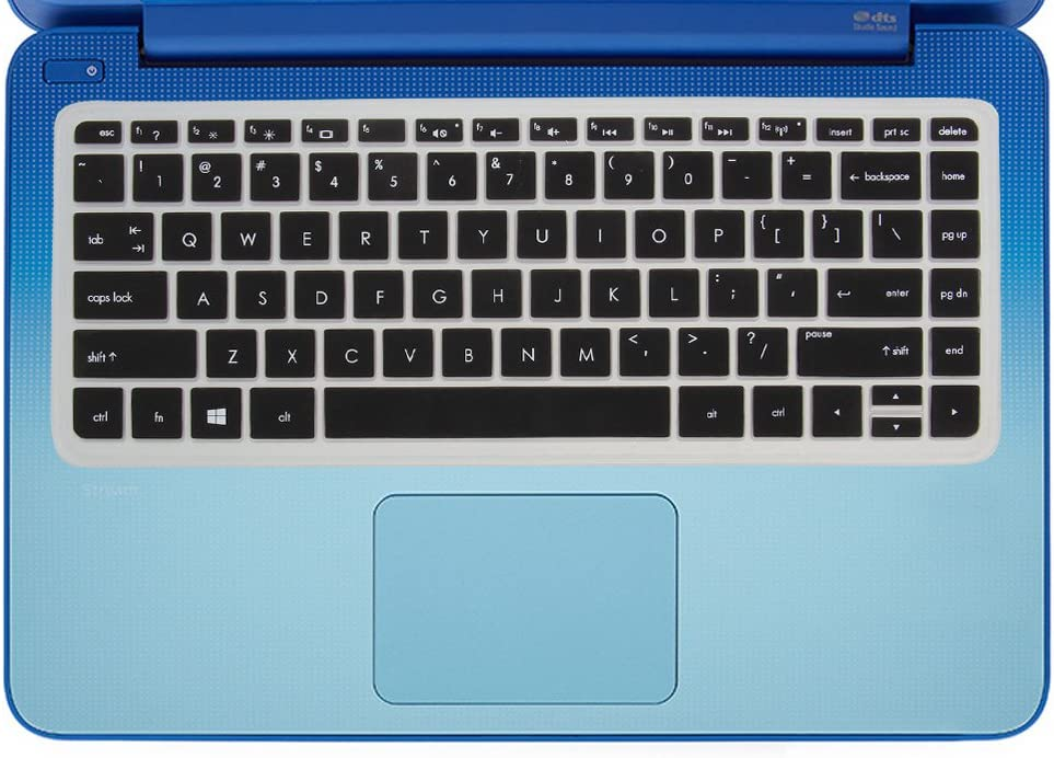 GMYLE Black Silicon Keyboard Cover for HP Stream 13