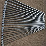 PIXNOR 11 Pairs of 36cm Silver Stainless Steel Straight Single Pointed Knitting Needles with Different Size of 2.0mm /2.5mm /3.0mm /3.5mm /4.0mm /4.5mm /5.0mm /5.5mm /6.0mm /7.0mm /8.0mm