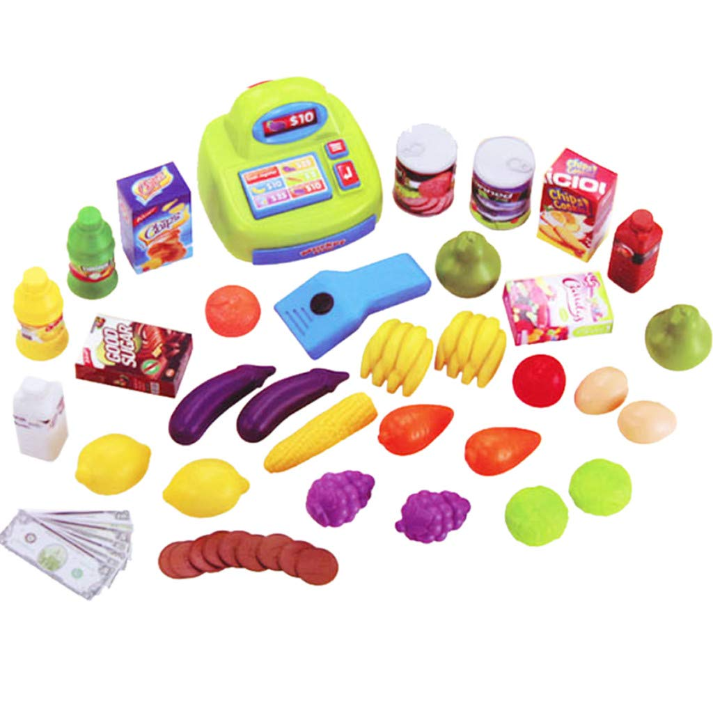 Supermarket Pretend Toy Cash Register Pretend Toy with Sound and Light ,Fun Super Market Pretend Play Toy ,Holiday Birthday Gift ,Kids Educational Creative Toys,Simulation Game Supermarket by lUKSY US-Direct (Image #5)