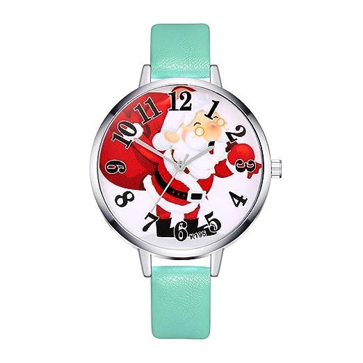 Relojes Pulsera Mujer Reloj de Mujer Reloj de Pulsera de Cuarzo de Las Mujeres Patrón de Moda de Navidad Analógico de Cuarzo Relojes QINGXIA_ZI: Amazon.es: ...