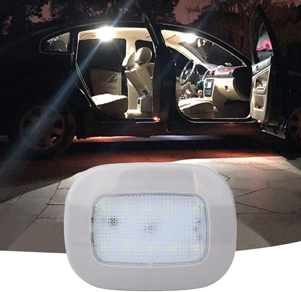 Las Luces del Techo del Automóvil se Iluminan con una luz de Cúpula Magnética con USB Universal Inalámbrico Recargable 10 LED para Luces de Placa Interior de Coche Luces de Lectura de Coche (Blanco)