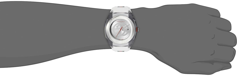 ec2291967d1 Amazon.com  Gucci SYNC XXL White Rubber Strap 46mm Unisex Watch YA137102   Watches