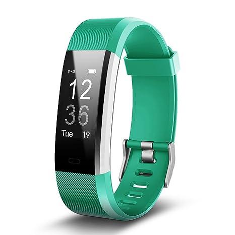 TechCode Reloj Inteligente Mujer, Impermeable Fitness Tracker Actividad Bluetooth Pulsometros Reloj Inteligente Pulsera Sensible Paso