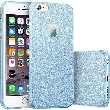 9faf0d2b7d0 FINOO | iPhone 7 Plus Contorno 3 en 1 Purpurina Bling Bling Funda de móvil