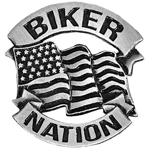 Pin's é pinglette Biker nation drapeau US AMT CUSTOM 28/PIN04