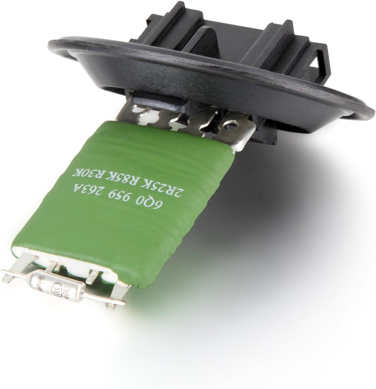 Resistenza per ventola di riscaldamento 6Q0959263A per Seat Cordoba//Ibiza//Fabia//Roomster