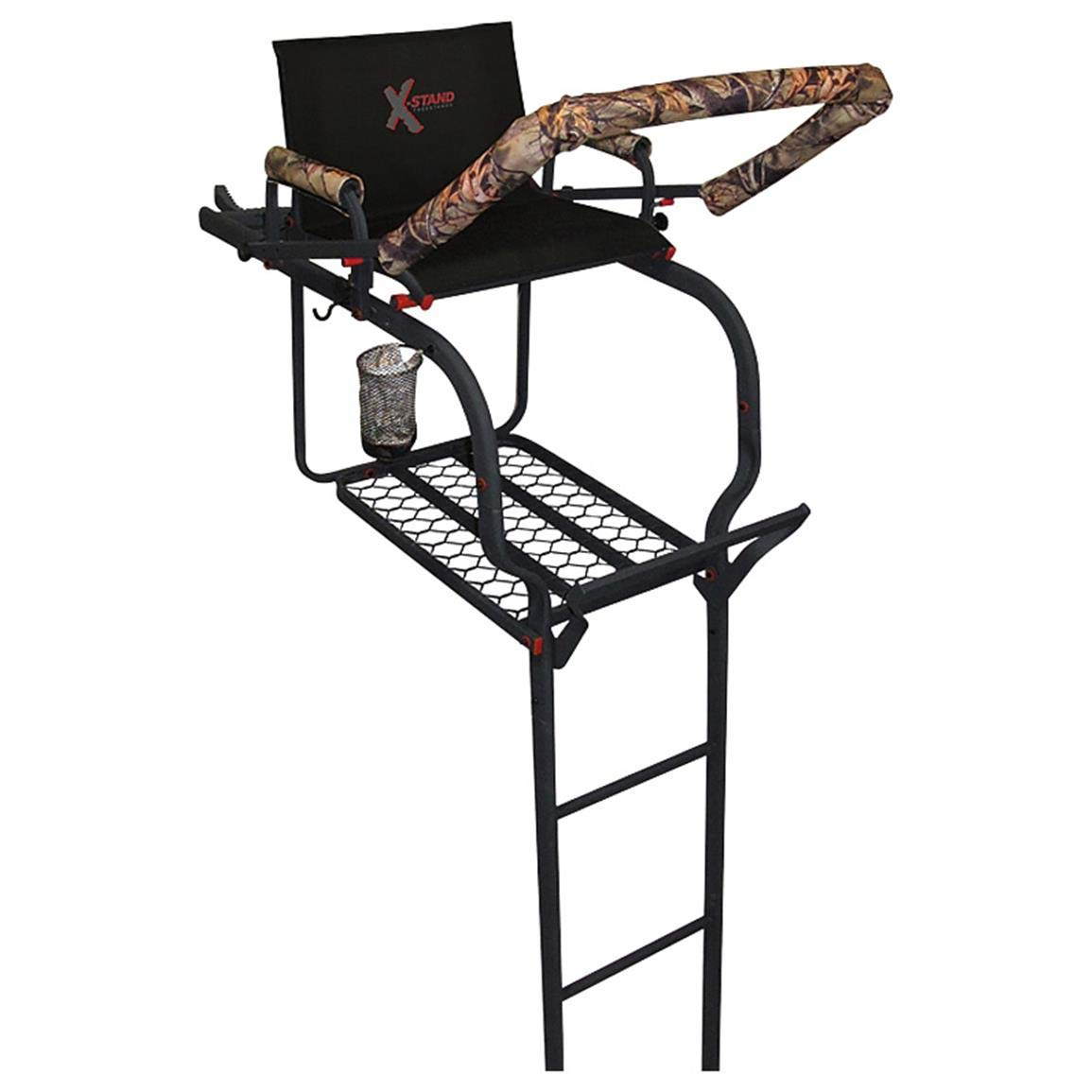 X-Stand Treestands The Duke 20' Single-Person Ladderstand Hunting Tree Stand, Black by X-Stand Treestands
