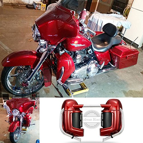 Moto Onfire Advanblack Ember Red Sunglo Pre-Rushmore Lower Vented Leg Warmers Fairing Kits For Harley Touring Street Glide 1983-2016 - Street Glide Fairing Bracket