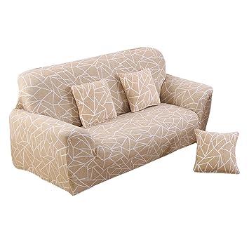 WINOMO alta elasticidad tela sofá cubre sofá asiento triple ...