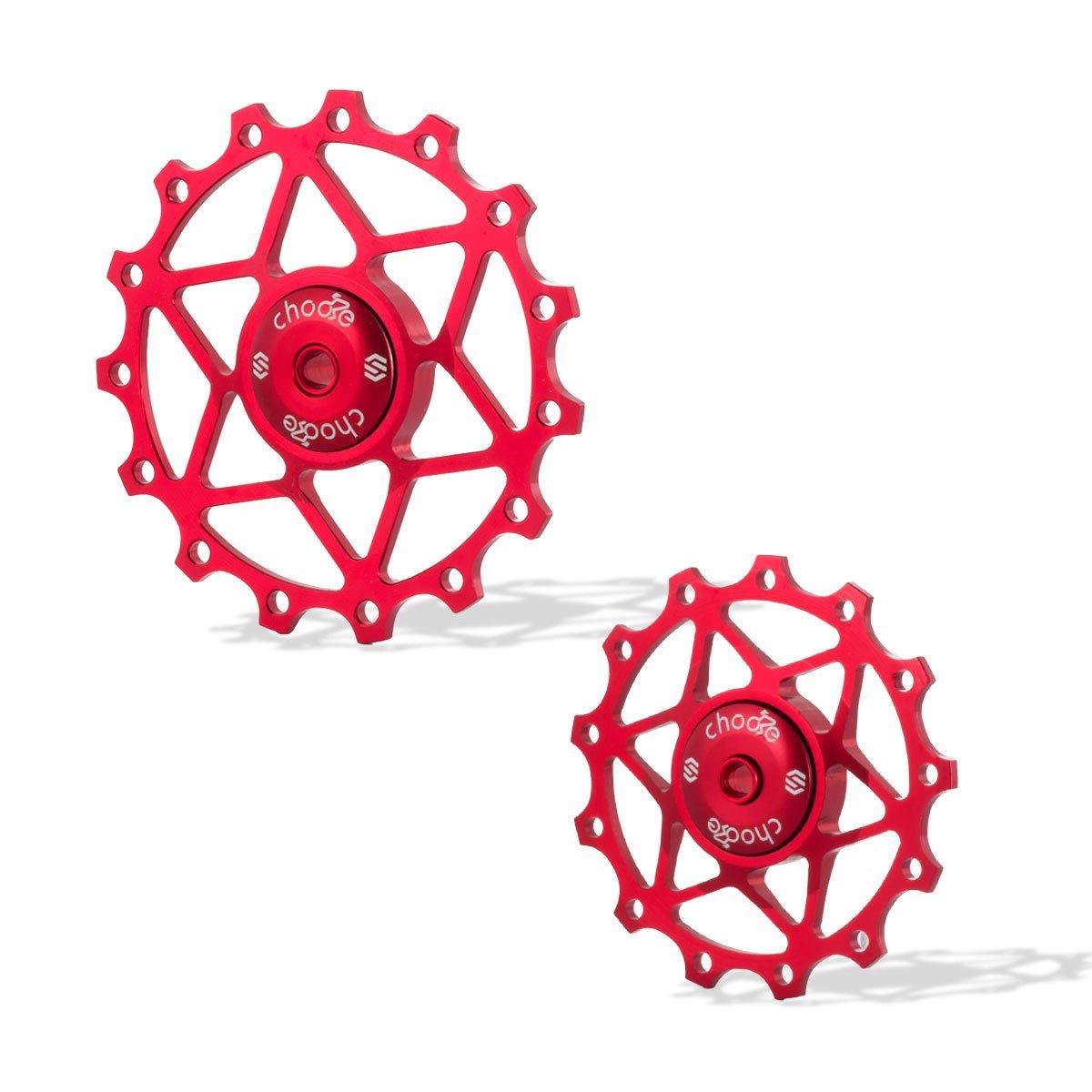 Chooee 13T Red Rear Derailleur Jockey Wheel Pulley Shimano SRAM by Chooee